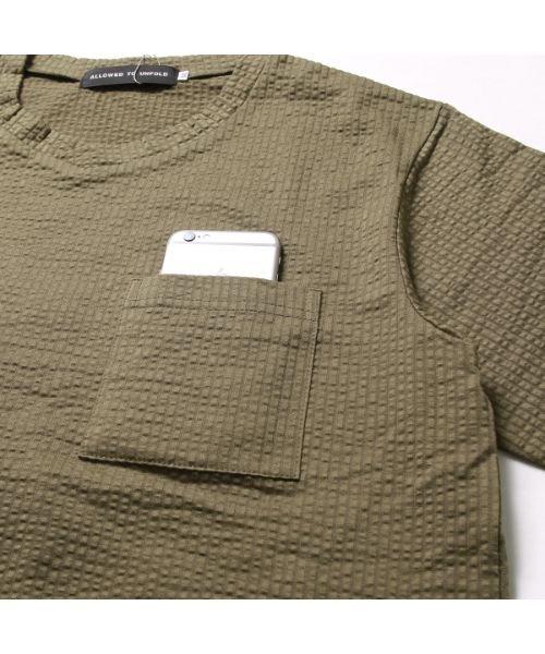 THE CASUAL(ザ カジュアル)/(バイヤーズセレクト)Buyer's Select ソロテックス浅Vネック半袖カットソー/buy190063_img08
