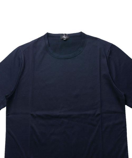 THE CASUAL(ザ カジュアル)/(ハリス) Harriss 日本製刺繍入りコーマシルケット天竺クルーネック半袖カットソー/buy190521_img08