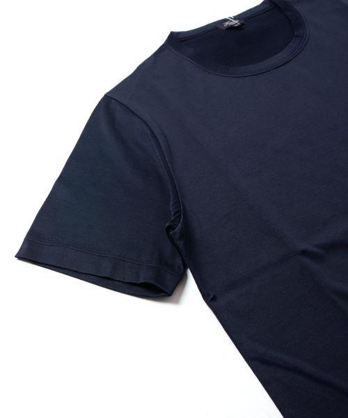 THE CASUAL(ザ カジュアル)/(ハリス) Harriss 日本製刺繍入りコーマシルケット天竺クルーネック半袖カットソー/buy190521_img09
