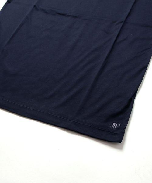 THE CASUAL(ザ カジュアル)/(ハリス) Harriss 日本製刺繍入りコーマシルケット天竺クルーネック半袖カットソー/buy190521_img10