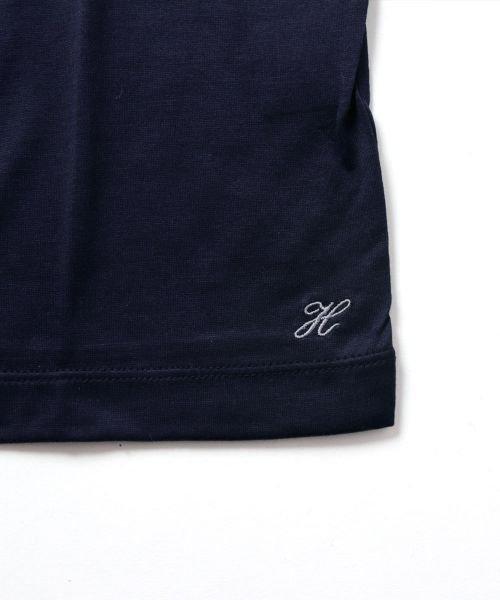 THE CASUAL(ザ カジュアル)/(ハリス) Harriss 日本製刺繍入りコーマシルケット天竺クルーネック半袖カットソー/buy190521_img11