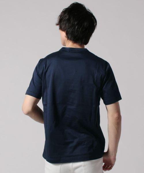 THE CASUAL(ザ カジュアル)/(ハリス) Harriss 日本製刺繍入りコーマシルケット天竺クルーネック半袖カットソー/buy190521_img14