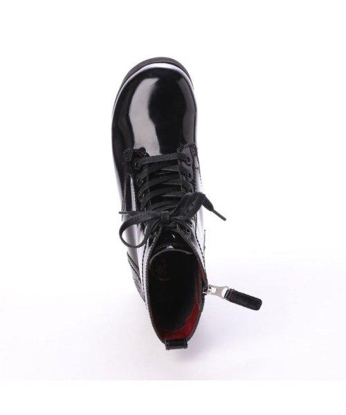 YOSUKE(ヨースケ)/ヨースケ YOSUKE 本革レースアップ厚底ブーツ (ブラックエナメル)/YO729BW15592_img03