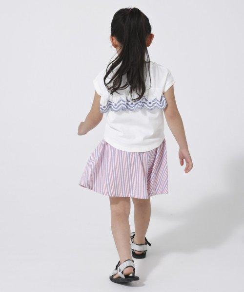 coen(コーエン(キッズ))/【coen キッズ/ジュニア】バックスカラップ刺繍ドルマンTシャツ/77256009052_img10