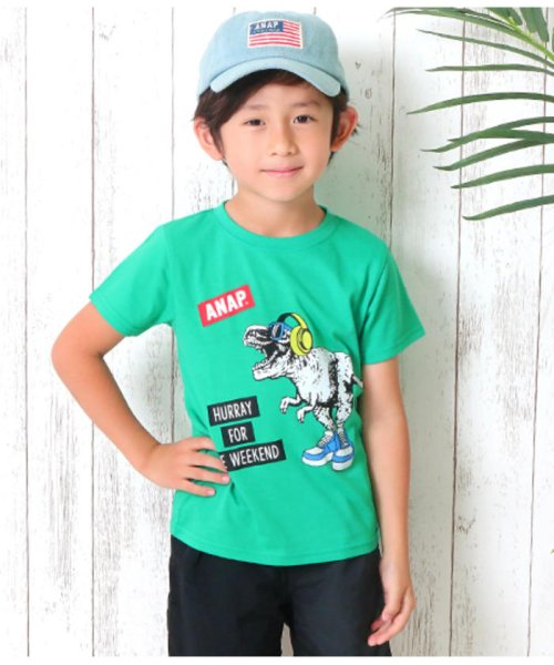 ANAP KIDS(アナップキッズ)/T-REXプリントTシャツ/0437400003_img02