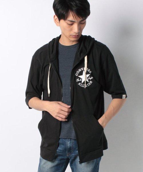 MARUKAWA(マルカワ)/【CONVERSE】 大きいサイズ メンズ コンバース 5分袖 天竺 フルジップ パーカー/6852280569_img10