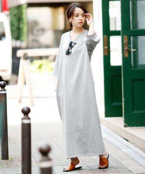 Girly Doll(ガーリードール)/ポケット付きゆったりロングワンピース/GHI19S005_img50