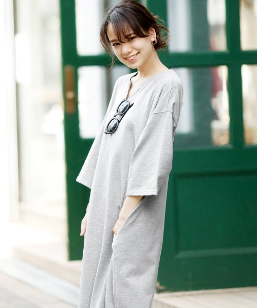 Girly Doll(ガーリードール)/ポケット付きゆったりロングワンピース/GHI19S005_img51