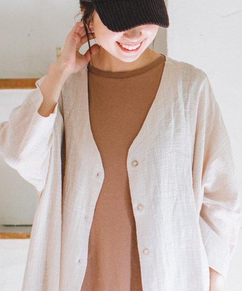 pairmanon(ペアマノン)/【ママサイズ】シングルガーゼ シャツ ワンピース/BH19SMOP12_img07