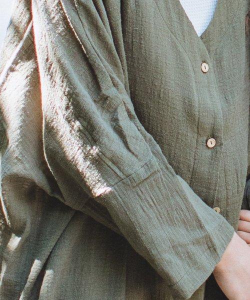 pairmanon(ペアマノン)/【ママサイズ】シングルガーゼ シャツ ワンピース/BH19SMOP12_img12