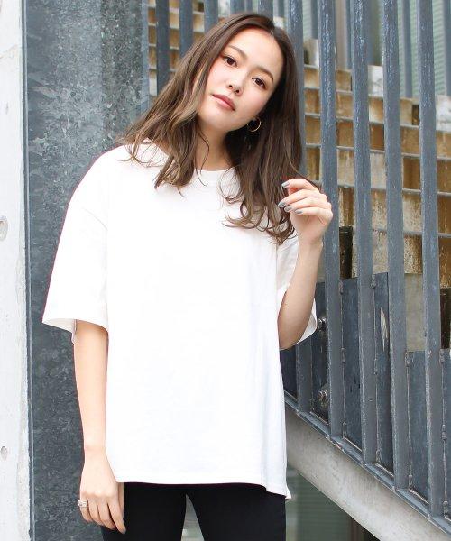 SocialGIRL(ソーシャルガール)/シンプルベーシックコットンUネックTシャツ/509-90_img15