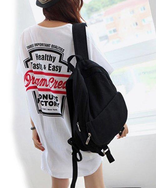felt maglietta(フェルトマリエッタ)/バックプリントロゴロング丈Tシャツ/3652_img02