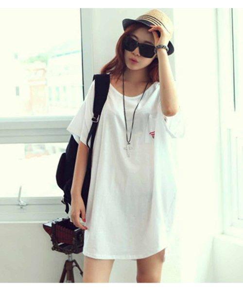 felt maglietta(フェルトマリエッタ)/バックプリントロゴロング丈Tシャツ/3652_img06
