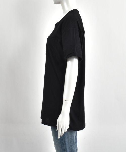 felt maglietta(フェルトマリエッタ)/コットン素材バック英字プリントTシャツ/am200_img02