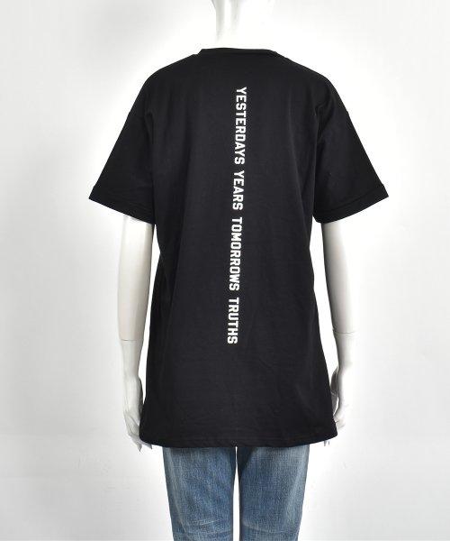 felt maglietta(フェルトマリエッタ)/コットン素材バック英字プリントTシャツ/am200_img03