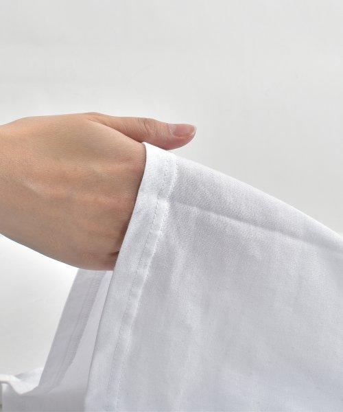 felt maglietta(フェルトマリエッタ)/コットン素材バック英字プリントTシャツ/am200_img04