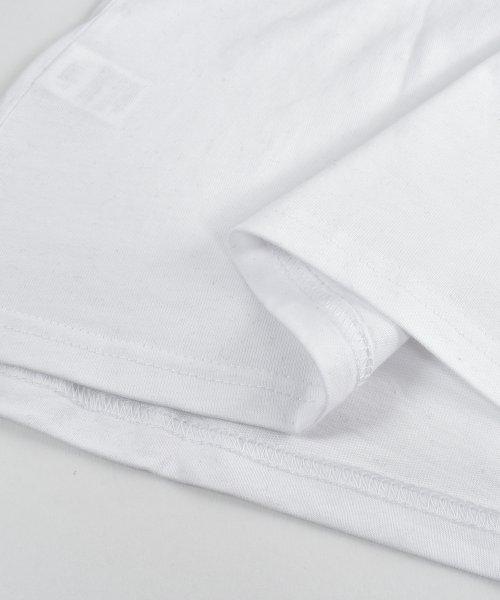 felt maglietta(フェルトマリエッタ)/コットン素材バック英字プリントTシャツ/am200_img05