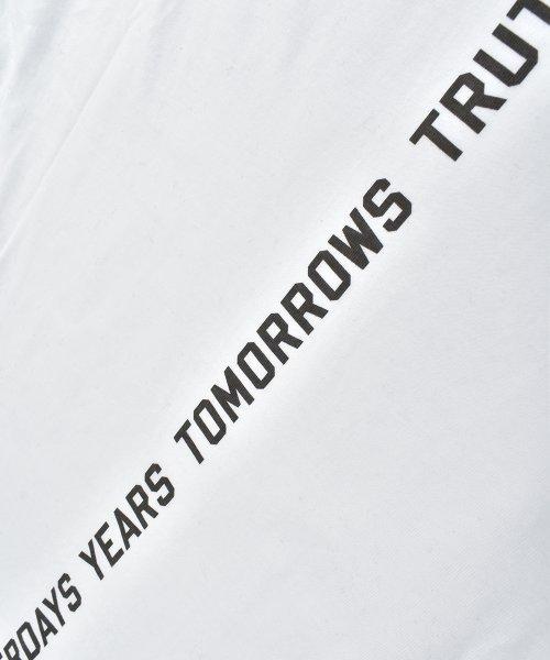 felt maglietta(フェルトマリエッタ)/コットン素材バック英字プリントTシャツ/am200_img06