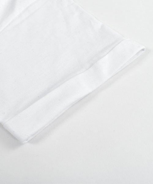 felt maglietta(フェルトマリエッタ)/コットン素材バック英字プリントTシャツ/am200_img07