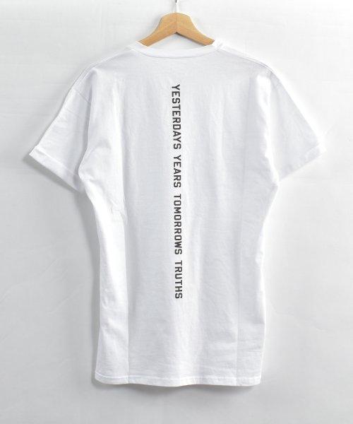 felt maglietta(フェルトマリエッタ)/コットン素材バック英字プリントTシャツ/am200_img08