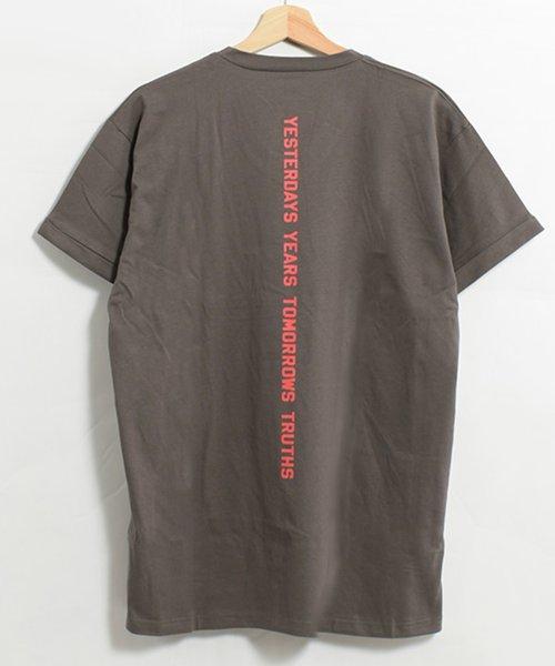 felt maglietta(フェルトマリエッタ)/コットン素材バック英字プリントTシャツ/am200_img11