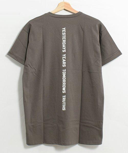 felt maglietta(フェルトマリエッタ)/コットン素材バック英字プリントTシャツ/am200_img12