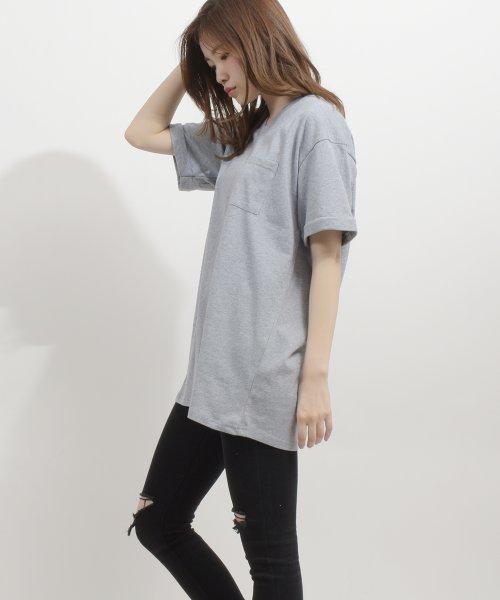 felt maglietta(フェルトマリエッタ)/コットン素材バック英字プリントTシャツ/am200_img17