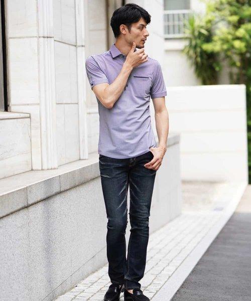 MICHEL KLEIN HOMME(ミッシェルクランオム)/『想いを込めた贈り物』ポロシャツ(クールマックスサッカー)/MNKHG26150_img04