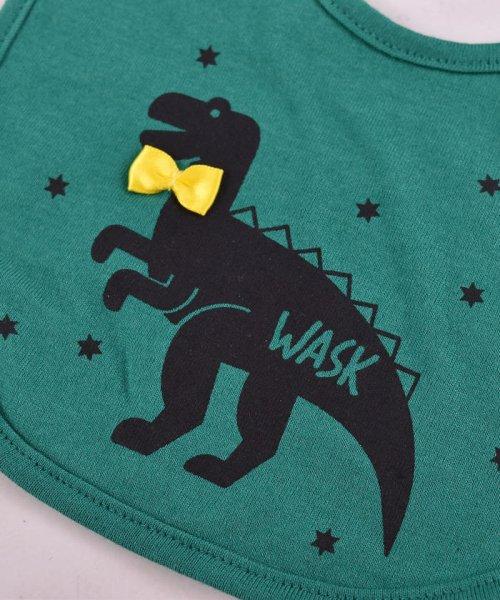 WASK(ワスク)/〈ベビー〉恐竜プリントリバーシブルスタイ/1354155591_img08