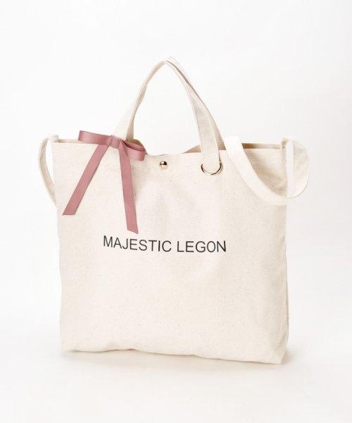 MAJESTIC LEGON(マジェスティックレゴン)/リボン付ロゴトートBAG/1096125501_img01
