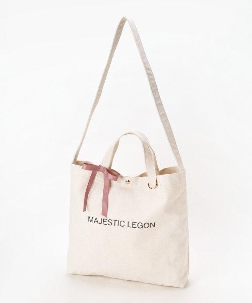 MAJESTIC LEGON(マジェスティックレゴン)/リボン付ロゴトートBAG/1096125501_img06