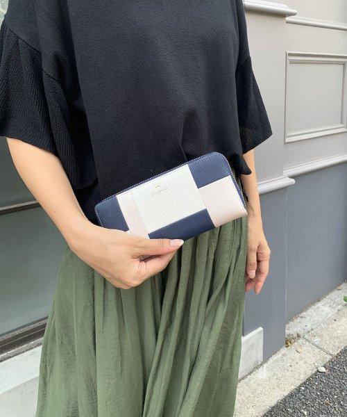 PI(ピーアイ)/【Pi ピーアイ】合皮ブロック配色ラウンドファスナー長財布/1555441_img10