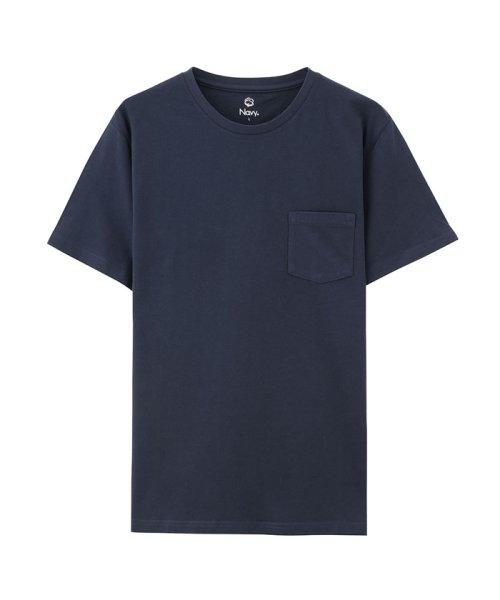 MAC HOUSE(men)(マックハウス(メンズ))/Navy オーガニックコットン クルーネックTシャツ MH/03489SS/01222005924_img04