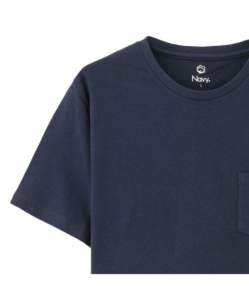 MAC HOUSE(men)(マックハウス(メンズ))/Navy オーガニックコットン クルーネックTシャツ MH/03489SS/01222005924_img10