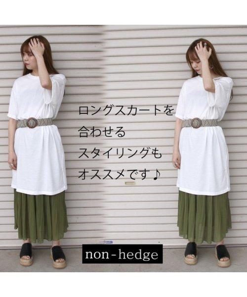 non-hedge(ノンヘッジ)/ロゴTシャツワンピース/ゆるT/ビッグT/ロング丈/シンプル/マタニティ/体型カバー/夏/メンズライク/オーバーサイズ/リラックス/カジュアル/韓国/ゆるワンピ/19174041-4_img02
