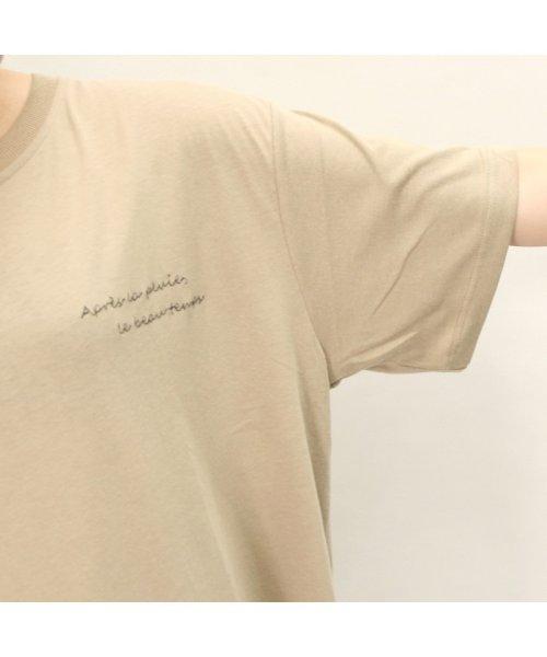 non-hedge(ノンヘッジ)/ロゴTシャツワンピース/ゆるT/ビッグT/ロング丈/シンプル/マタニティ/体型カバー/夏/メンズライク/オーバーサイズ/リラックス/カジュアル/韓国/ゆるワンピ/19174041-4_img11