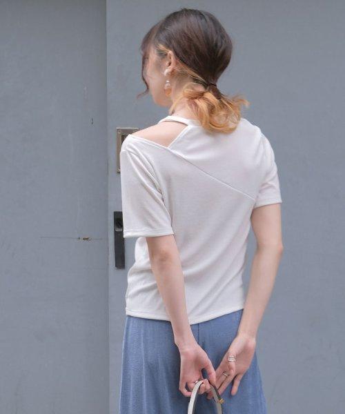 ANDJ(ANDJ(アンドジェイ))/肩開きテレコTシャツ/ts75x04412_img11