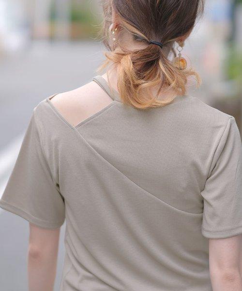 ANDJ(ANDJ(アンドジェイ))/肩開きテレコTシャツ/ts75x04412_img17
