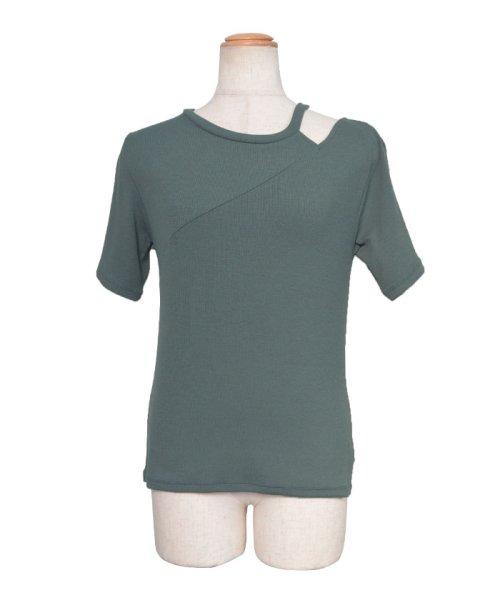 ANDJ(ANDJ(アンドジェイ))/肩開きテレコTシャツ/ts75x04412_img26