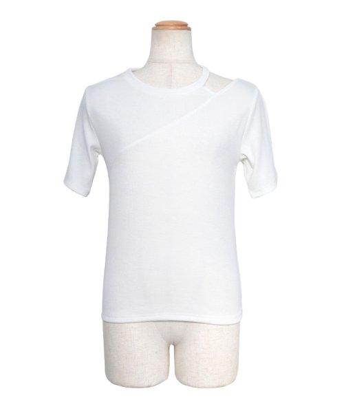 ANDJ(ANDJ(アンドジェイ))/肩開きテレコTシャツ/ts75x04412_img27