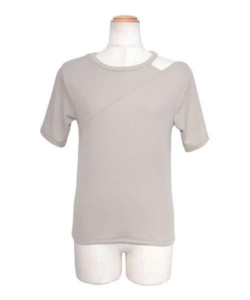 ANDJ(ANDJ(アンドジェイ))/肩開きテレコTシャツ/ts75x04412_img29