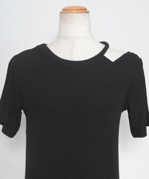 ANDJ(ANDJ(アンドジェイ))/肩開きテレコTシャツ/ts75x04412_img31