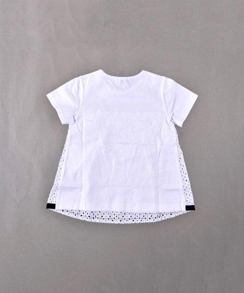 BeBe(ベベ)/天竺レース切り替えTシャツ/111515015_img01