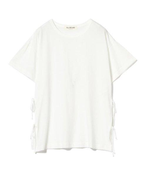Ray BEAMS(レイビームス)/Ray BEAMS / サイド リボン クルーネック Tシャツ/63040294370_img03