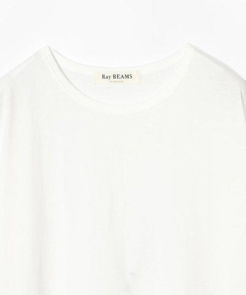 Ray BEAMS(レイビームス)/Ray BEAMS / サイド リボン クルーネック Tシャツ/63040294370_img04