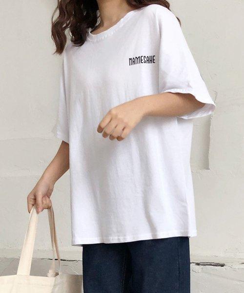 felt maglietta(フェルトマリエッタ)/オーバーサイズバックプリントTシャツ/am219_img01