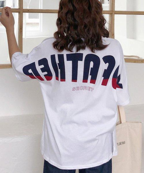 felt maglietta(フェルトマリエッタ)/オーバーサイズバックプリントTシャツ/am219_img02
