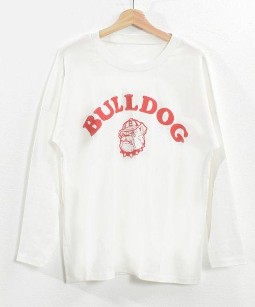 felt maglietta(フェルトマリエッタ)/ブルドッグのプリントが可愛い♪プリントTシャツ/am109_img08