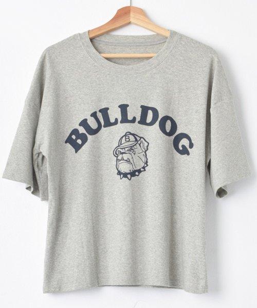 felt maglietta(フェルトマリエッタ)/ブルドッグのプリントが可愛い♪プリントTシャツ/am109_img10