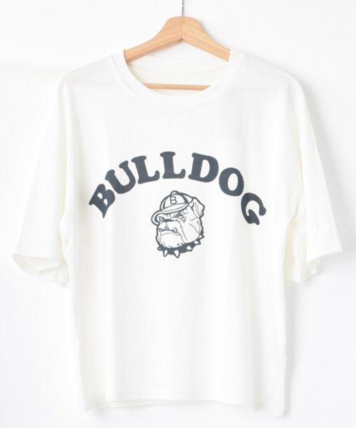 felt maglietta(フェルトマリエッタ)/ブルドッグのプリントが可愛い♪プリントTシャツ/am109_img11